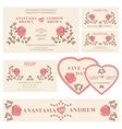 Wedding invitationWedding collection vector image