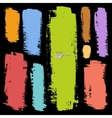 set of grunge colorful brush strokes vector image vector image