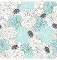 Seamless vintage floral background vector image vector image