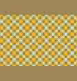 yellow check diagonal fabric texture background vector image