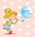 girl blowing bubbles vector image vector image