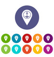 map pin location with tea or coffee cup sign icons vector image
