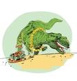 The evolution of men Tyrannosaurus dinosaur vector image