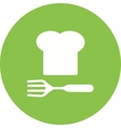 Chef Hat and Fork vector image