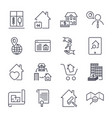 real estate line icons icon set with editable vector image