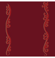 Red flourish curves vector image