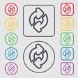 Refresh icon sign symbol on the Round and square vector image