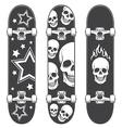 Skateboard print vector image