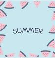 summer holiday vacation flat design vector image