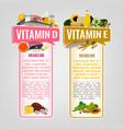 vitamin banners set vector image