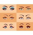 Women Eyes Set vector image