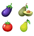 Fruits and vegitable vector image vector image