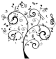 tree notes vector image