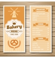 Bakery Shop Menu vector image