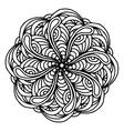 Mandala coloring page doodle vector image