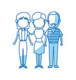 Family parent and grandparents together character vector image