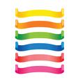 Set of color label ribbon vector image