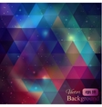 Triangle background with galaxy vector image vector image