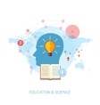 Global massive online education courses flat icon vector image