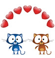cat valentine lovers vector image vector image
