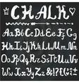 AlphabetChalk Hand drawn lettersChalkboard vector image
