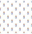 baby bottle with nipple pattern seamless vector image
