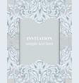 baroque frame decor for invitation wedding vector image