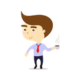 business lunch isolated smiling businessman with vector image