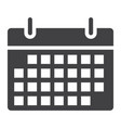 calendar glyph icon web and mobile date sign vector image
