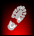 footprint boot sign postage stamp or old photo vector image