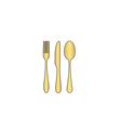 fork spoon knife computer symbol vector image