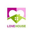 love house realty logo vector image
