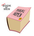 Manual women Instruction girls Special book for vector image