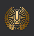modern new gold microphone logo vector image