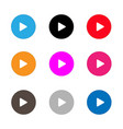 play sign icon set play button on white vector image