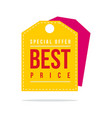 special offer sale price label style design vector image