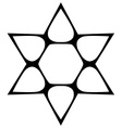 Star shape contour Monochromatic vector image