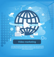 video marketing concept web banner with copy space vector image