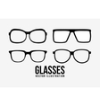 Fashion glasses object icon set vector image