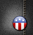 USA America Emblem Flag Badge on Black Jeans Denim vector image