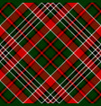 Green red diagonal check square pixel seamless vector image
