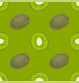 cartoon fresh kiwi fruits in flat style seamless vector image