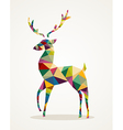 Merry Christmas trendy abstract reindeer EPS10 vector image