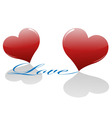 Two loving hearts vector image