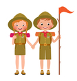children boy and girl scout vector image