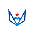 abstract symbol star geometry logo vector image