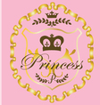 princess graphic vector image