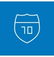 Route road sign line icon vector image