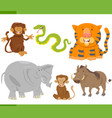 animal characters collection vector image
