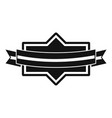 badge ribbon icon simple black style vector image